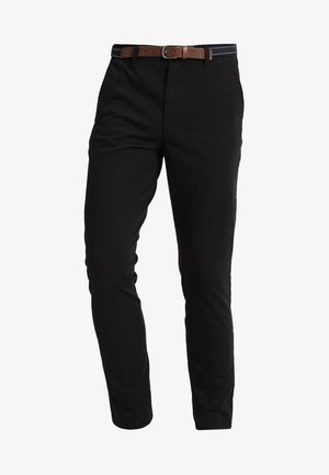 SLHSLIM JAMERSON PANTS - Pantalones chinos - black