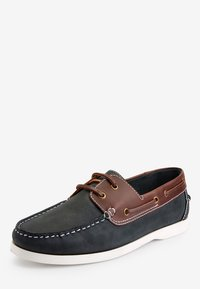 Next - NAVY LEATHER BOAT SHOES - Chaussures bateau - blue - 2