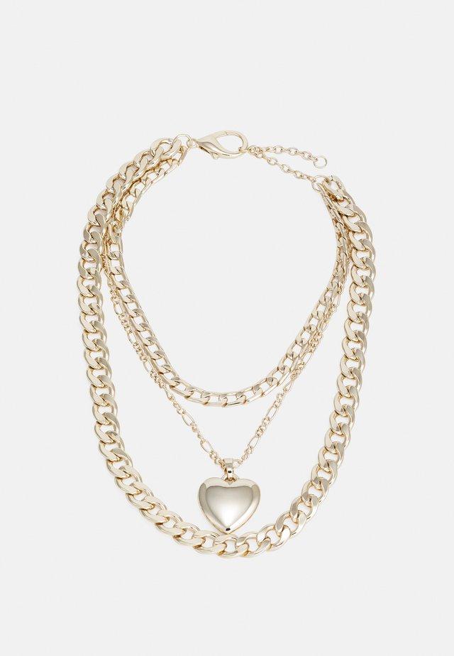 CHUB HEART CHUNKY MULTIROW - Collar - gold-coloured