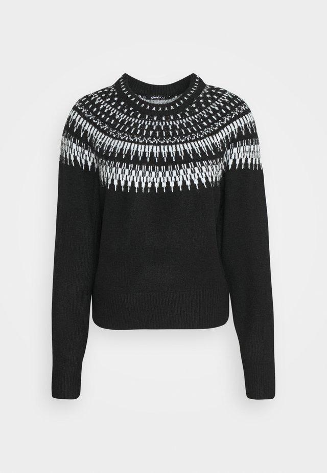 KLARA  - Strikpullover /Striktrøjer - black/grey