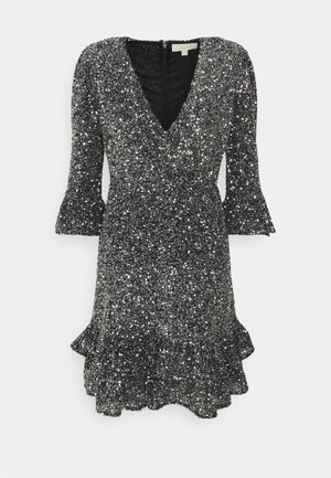 RUFFLE MINI  - Cocktail dress / Party dress - silver-coloured
