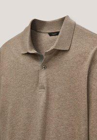 Massimo Dutti - MIT STRUKTURMUSTER  - Polo shirt - brown - 2