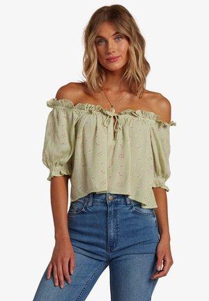 SUNNY SKIES - Print T-shirt - celedon green