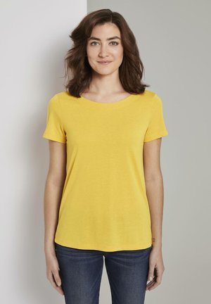 Print T-shirt - deep golden yellow