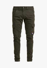 Alpha Industries - PETROL PATCH - Cargo trousers - greyblack - 3