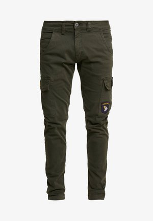 PETROL PATCH - Cargo trousers - greyblack
