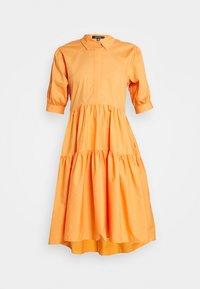 Missguided - OVERSIZED SHIRT MIDI DRESS - Maxi dress - orange - 4