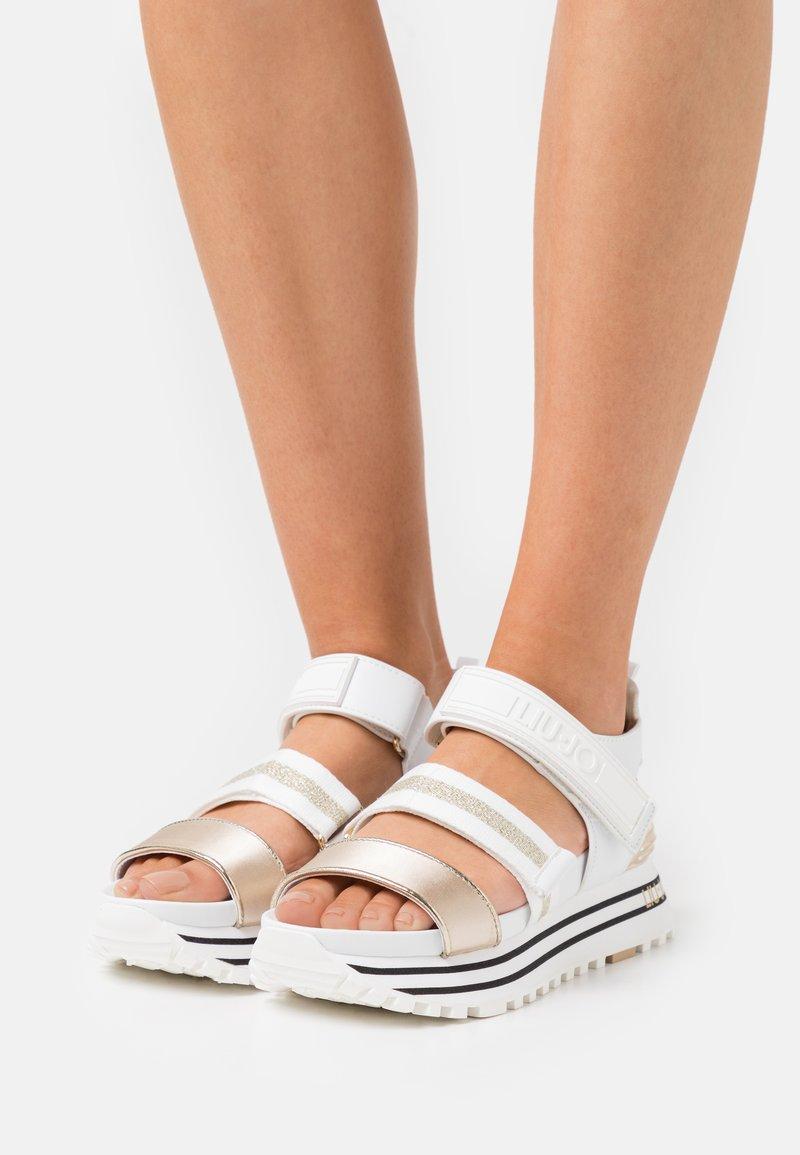 Liu Jo Jeans - MAXI - Platform sandals - white
