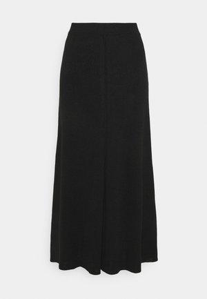 AGDA - Maxi sukně - black