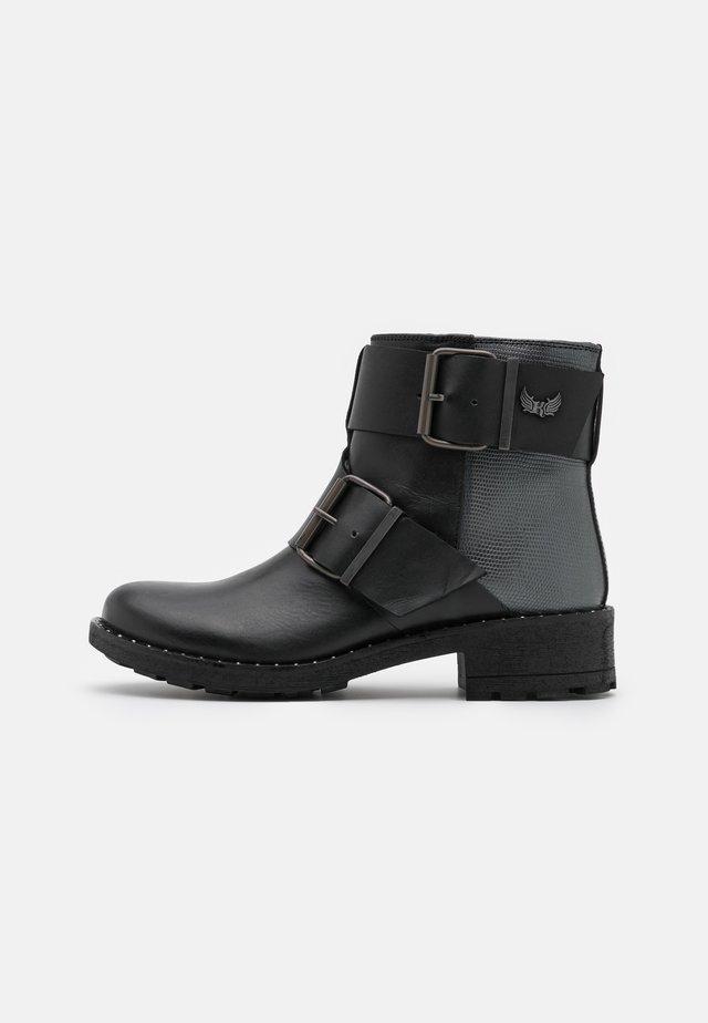 LONDRES - Cowboy/biker ankle boot - noir
