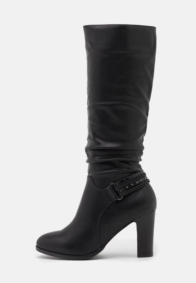 WIDE FIT WILD - Boots - black