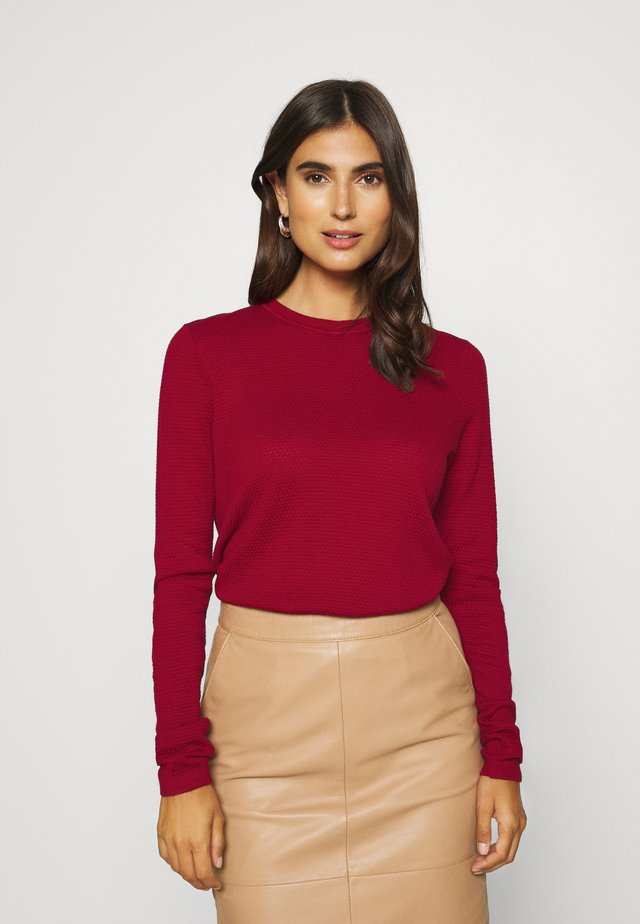 Sweter - brick red