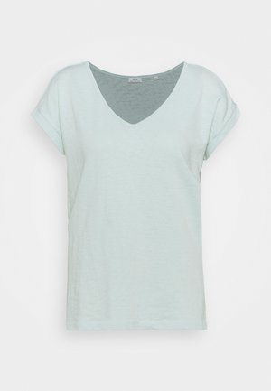 SHORT SLEEVE V NECK - Basic T-shirt - blue glow
