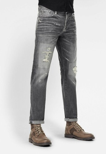 3301 STRAIGHT TAPERED - Jeans Tapered Fit - faded gravel grey restored