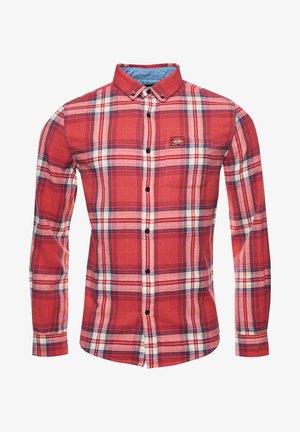 HERITAGE LUMBER - Shirt - mottled dark red