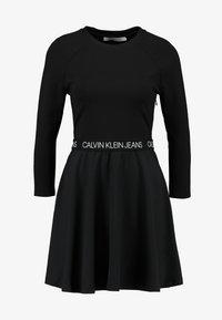 Calvin Klein Jeans - MID SLEEVE MILANO LOGO ELASTIC - Denní šaty - black - 5