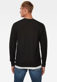 G-Star - JIRGI TAPE DETAIL ROUND LONG SLEEVE - Felpa - dk black/raven - 1
