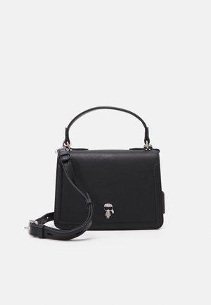 IKONIK 3D PIN FLAP CROSSBODY - Across body bag - black