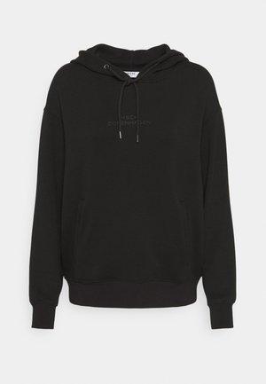 LOGO HOOD  - Long sleeved top - black/black