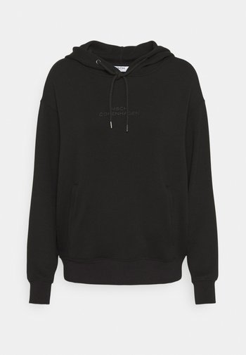 IMA LOGO HOOD - Sweatshirt - black/black
