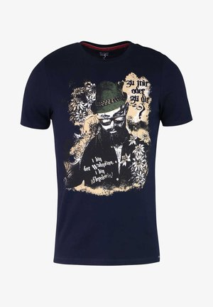 LEVEL FIVE  - Print T-shirt - dunkelblau
