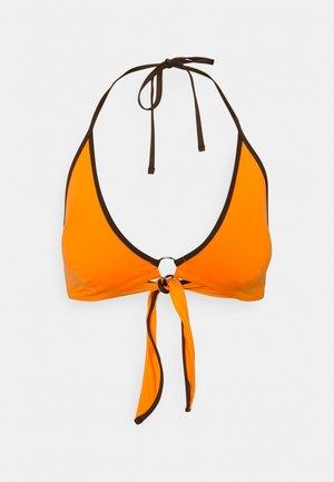 LIUTO TRIANGLE - Bikini top - orange