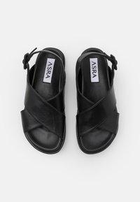 ASRA - PIPPY - Korkeakorkoiset sandaalit - black - 4