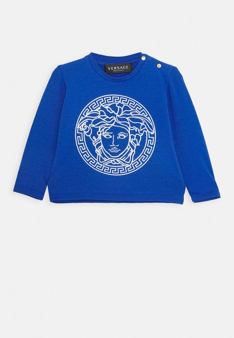 Versace - MAGLIETTA MANICA LUNGA UNISEX - Top sdlouhým rukávem - blue/bianco