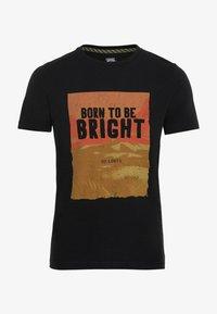 camel active - KURZARM  - Print T-shirt - asphalt - 5