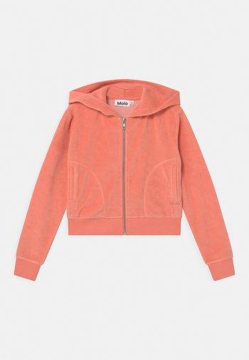 MILLA - Zip-up hoodie - burnt coral