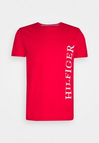 Tommy Hilfiger - LARGE LOGO TEE - Printtipaita - red - 3