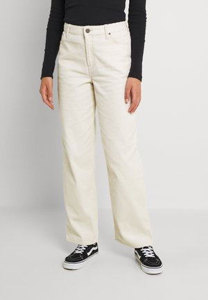 WIDE LEG LONG - Trousers - shark tooth