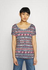 Desigual - T shirt SANTORINI - T-shirt imprimé - blue - 0