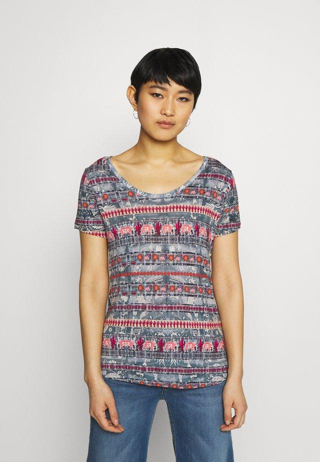 T shirt SANTORINI - T-shirt print - blue