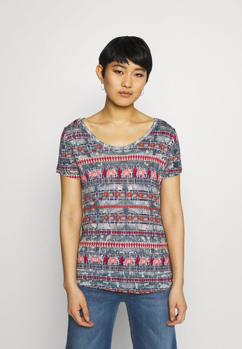 Desigual - T shirt SANTORINI - T-shirt imprimé - blue