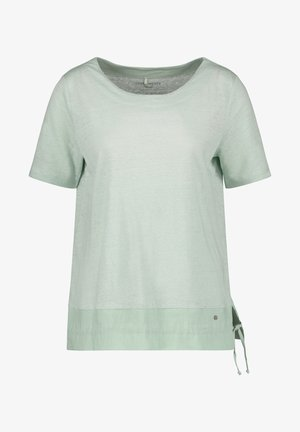 1/2 ARM  - Print T-shirt - aqua grey