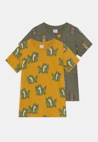 Lindex - MINI 2 PACK - T-Shirt print - khaki - 0