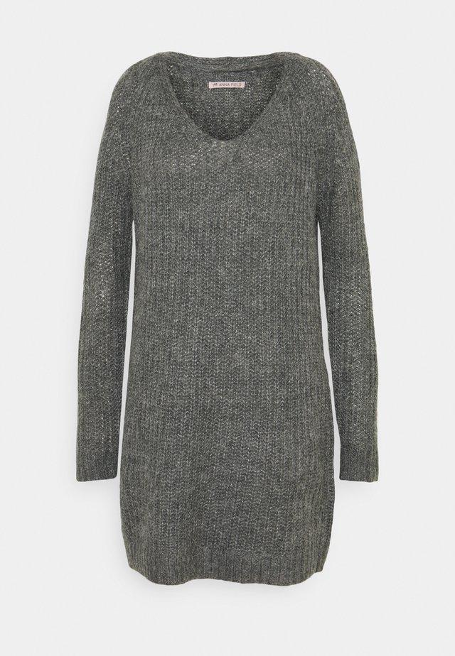 Strickkleid - dark grey melange