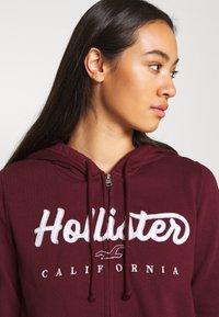 Hollister Co. - Mikina na zip - burgundy - 4
