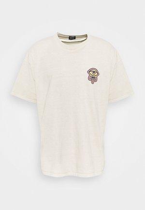 BADGE TEE UNISEX - Print T-shirt - cream