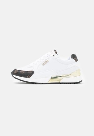 MOXEA - Sneakersy niskie - white/brown