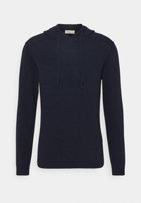 Wool & Co - CAPPUCCIO CUCITURE ESTERNE - Jumper - blu - 4