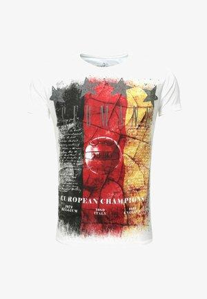 T TEAM GERMANY ROUND - Print T-shirt - white