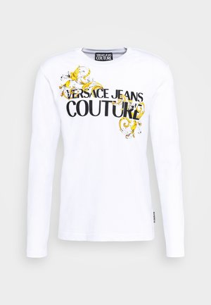 LOGO - Long sleeved top - white/black/gold