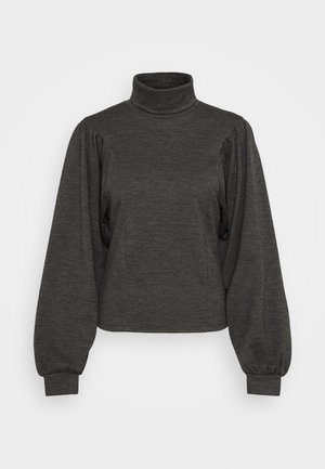 LOPAGZ ROLLNECK  - Jumper - dark grey melange