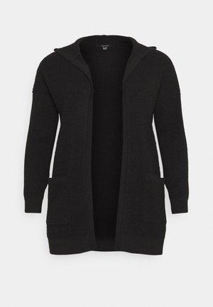 VMLEANNA HOOD CARDIGAN - Vest - black