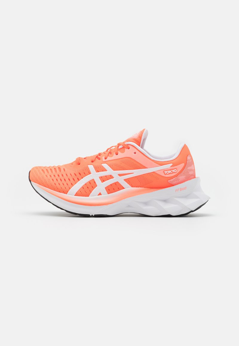 ASICS - NOVABLAST TOKYO - Neutral running shoes - sunrise red/white