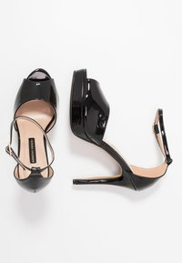 Dorothy Perkins - SORBET PLATFORM - Korolliset sandaalit - black - 3