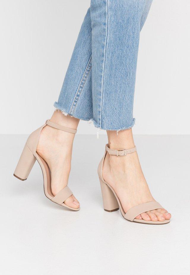 TAYVIA  - Højhælede sandaletter / Højhælede sandaler - bone