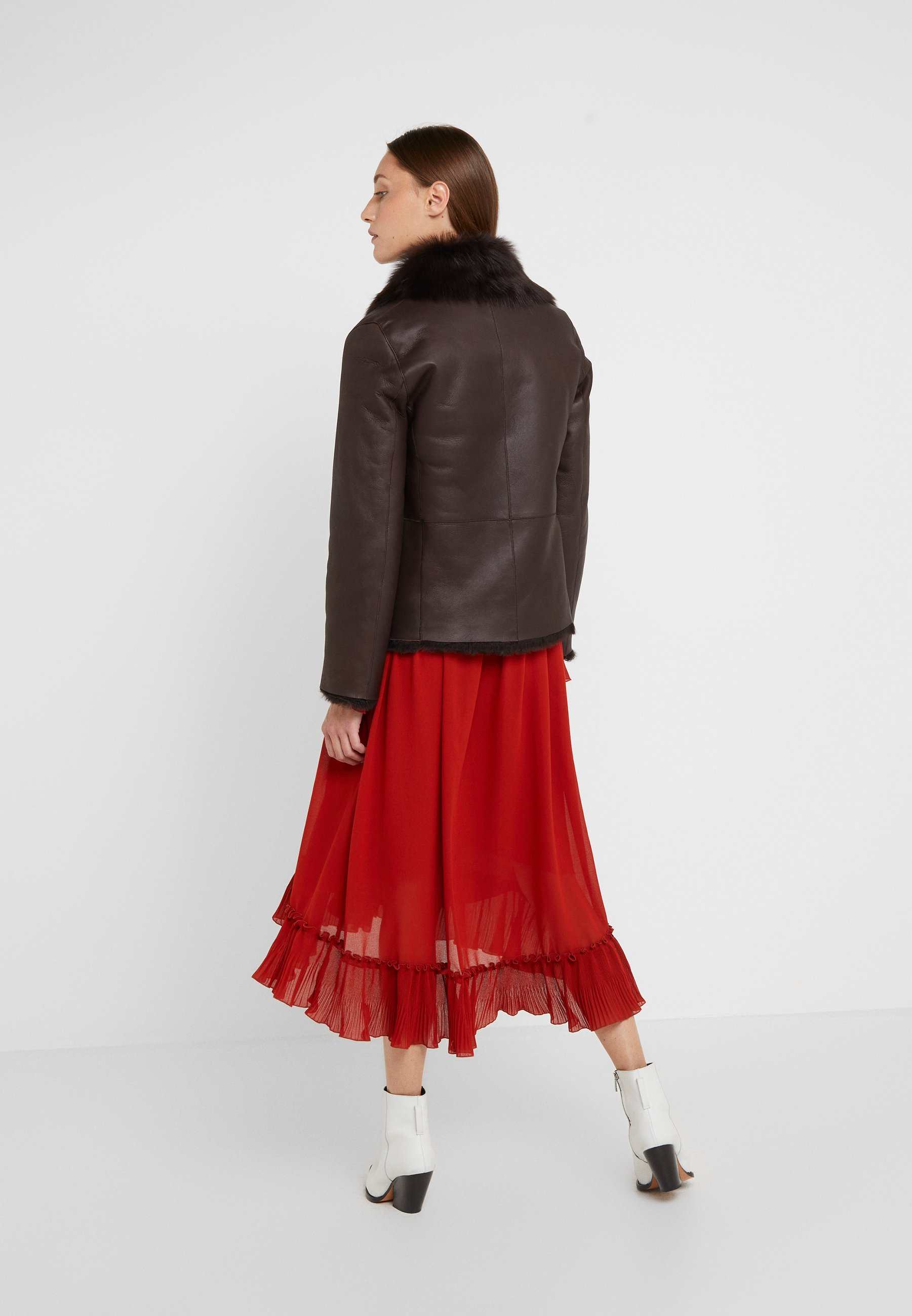 Fashion Style Women's Clothing STUDIO ID PHILIPPA JACKET Leather jacket brown 20A0x2W9N